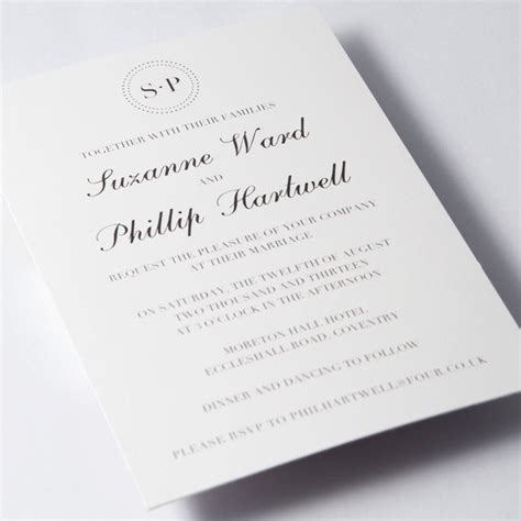Simple Wedding Stationery by Simple Wedding Invitations Invitations And Cards