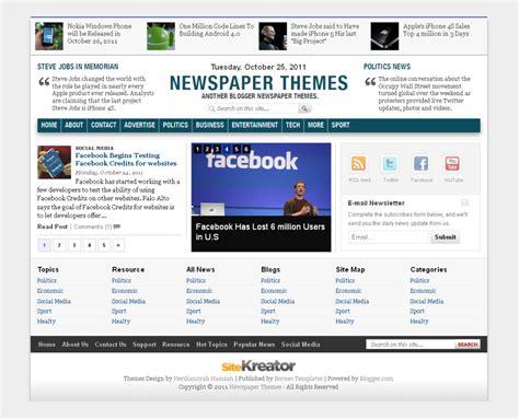 Newspaper Theme For Blogger | demo borneo templates