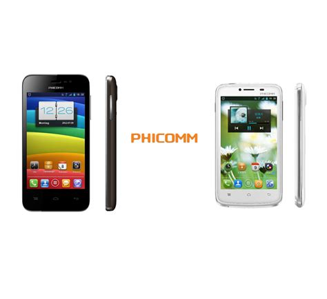 new android phone phicomm introduces its new android smartphones i600 i370w phoneworld
