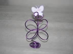 marque place papillon fil aluminium violet pour mariage ou