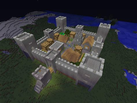 Castle Blueprint by Minecraft Npc Village Ideas Minecraft Seeds For Pc Xbox