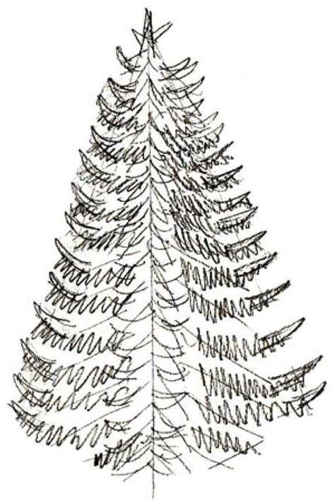 realistic christmas tree drawing how to draw a christmas