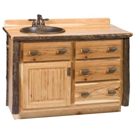 3 Foot Bathroom Vanity Fireside Rustic Hickory Log Vanity 42 Inch