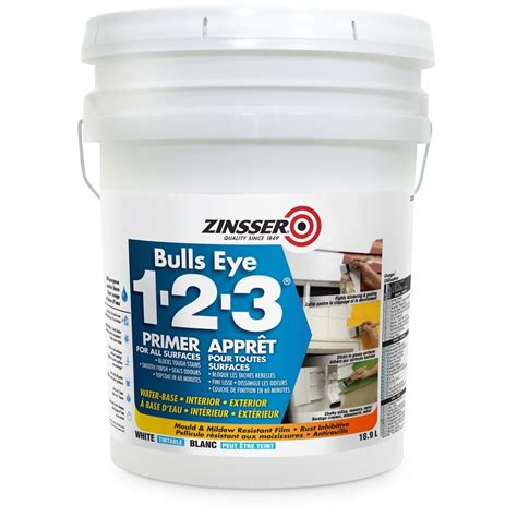 home depot paint with primer reviews zinsser zinnser bulls eye 123 primer 18 9l the home