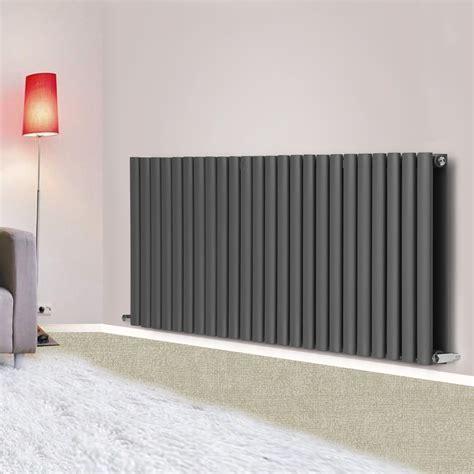 modern bathroom radiators anthracite horizontal designer column radiator modern bathroom central heating ebay