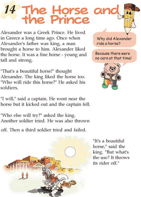 themes of the story a horse and two goats grade 2 reading lesson 14 myths and legends the horse