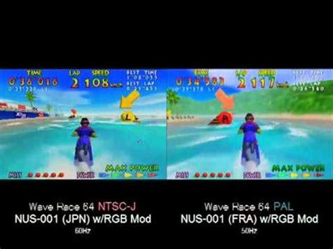 format video pal vs ntsc nintendo 64 ntsc vs pal youtube
