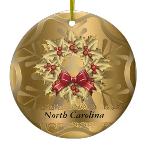 north carolina state christmas ornament zazzle