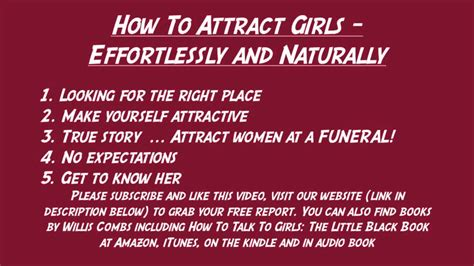 how to attract girls effortlessly and naturally youtube