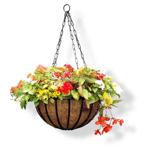 hand forged hanging baskets flowers not included