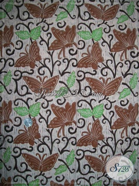 Kain Batik Bola Coklat kain batik kupu warna coklat bahan batik untuk baju trendy