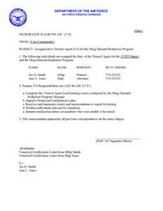 Appointment Letter Usaf 934 Aw Drug Prevention And Education Forum Sample