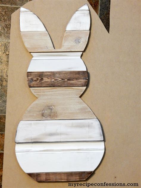 reclaimed wood easter bunny my recipe confessions