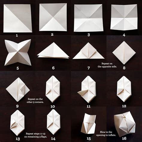Origami Lights - bedroom string lights with origami paper lanterns
