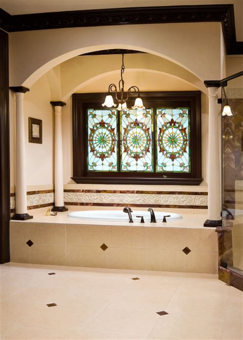 Stained Glass In Bathroom by Stained Glass Master Bathroom Bathroom Charleston By Priester S Custom Contracting Llc