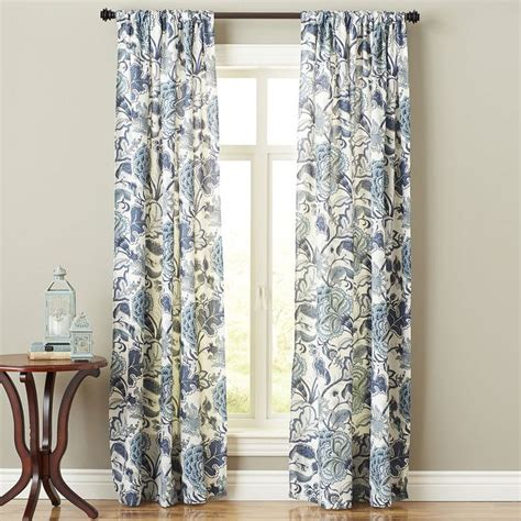 curtains at pier one floral curtain indigo meadow pier 1 imports home