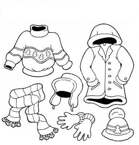 imagenes infantiles ropa de invierno maestra de infantil el invierno dibujos para colorear
