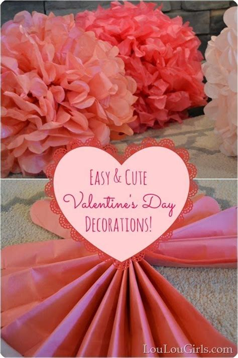 valentine decorations to make at home how to make cute and easy valentine s day decorations