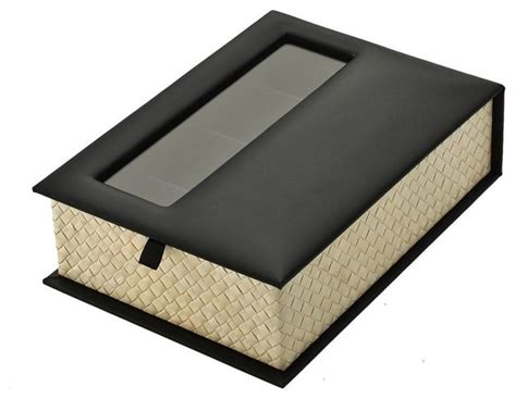 reading and sunglasses organizer box pandan leaf and