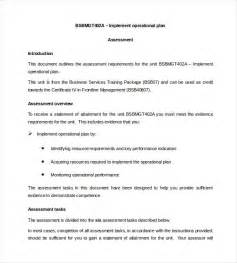 operational plan template for business plan 16 operational plan templates free sle exle