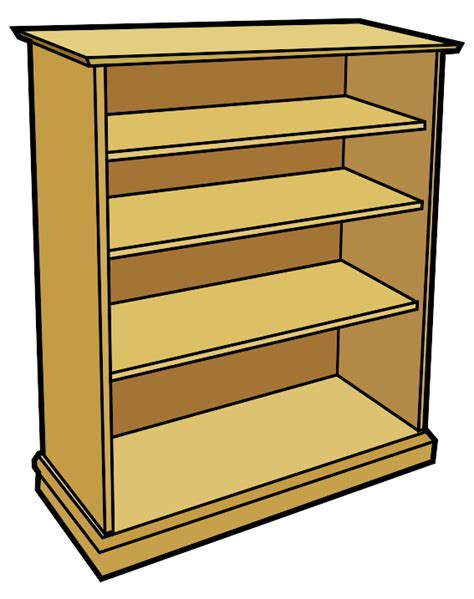 Computer Bookcase Clip Art Furniture Clipart Best