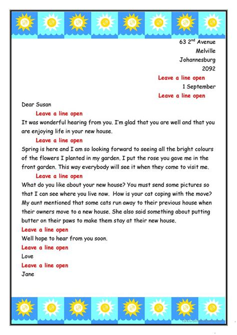 Informal Apology Letter To Friend Informal Letter To Susan Worksheet Free Esl Printable Worksheets Made By Teachers