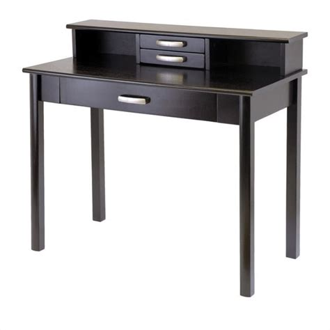 Espresso Computer Desk With Hutch Computer Desk With Hutch In Espresso 92271