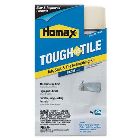 homax bathtub refinishing reviews homax 32 oz bisque tough as tile one part aerosol kit