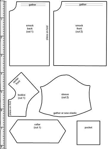 pattern allowances pdf smock pattern printable pdf la dollce vita com patterns