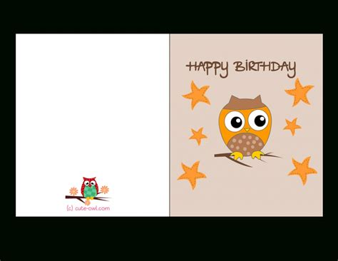 design your own greeting card template free printable greeting card free printable owl birthday cards