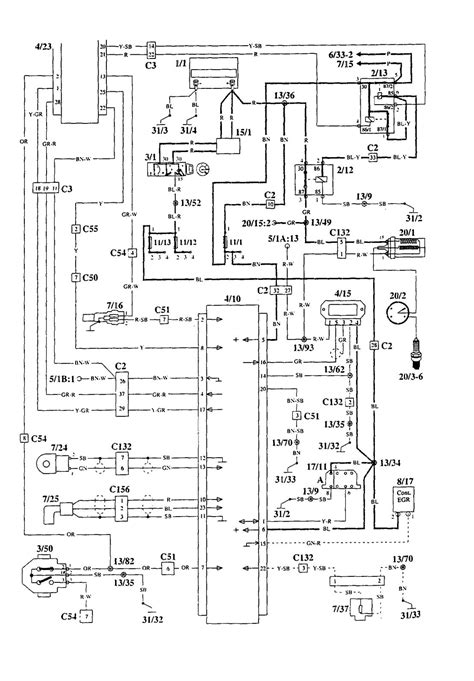 volvo 940 1995 wiring diagrams ignition carknowledge