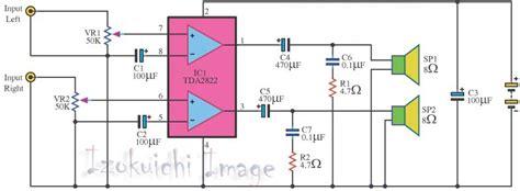Rangkaian Speaker Aktif Mini cara membuat speaker aktif dari komponen bekas pakai ulbe ulasan lengkap belajar elektronika