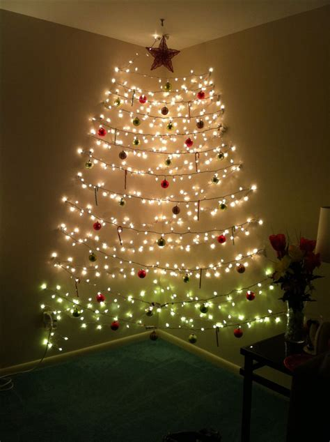 wall christmas tree made of lights pinotharvest com