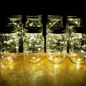 Mason Jar Decorations Sale 8 Firefly Lights And Mason Jar Centerpieces Wedding