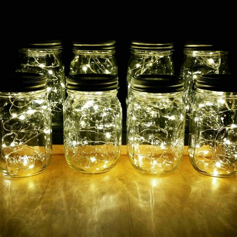 Jars Wedding Centerpieces Sale 8 Firefly Lights And Mason Jar Centerpieces Wedding