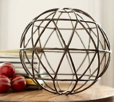 sculpted sphere pottery barn