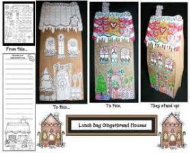paper bag gingerbread house pattern 172 best gingerbread activities images on pinterest day