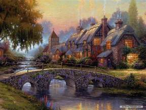 Dollar Tree Shower Curtain - free thomas kinkade wallpapers for desktop wallpaper cave