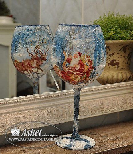 Decoupage Glass - decoupage na szkle 49 glas
