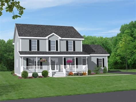 Front House Plans by Two Story Brick House Plans With Front Porch