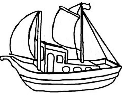 dessin bateau de peche activite pour gommette page 2