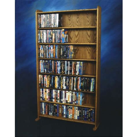 dvd racks wood shed dvd and vhs storage rack various finishes 707 3