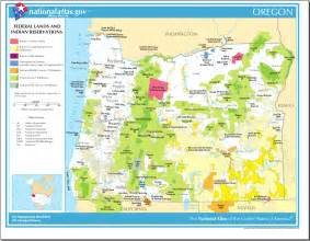 map of oregon map federal lands and indian reservations