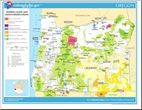 indian reservations usa map map of oregon map federal lands and indian reservations