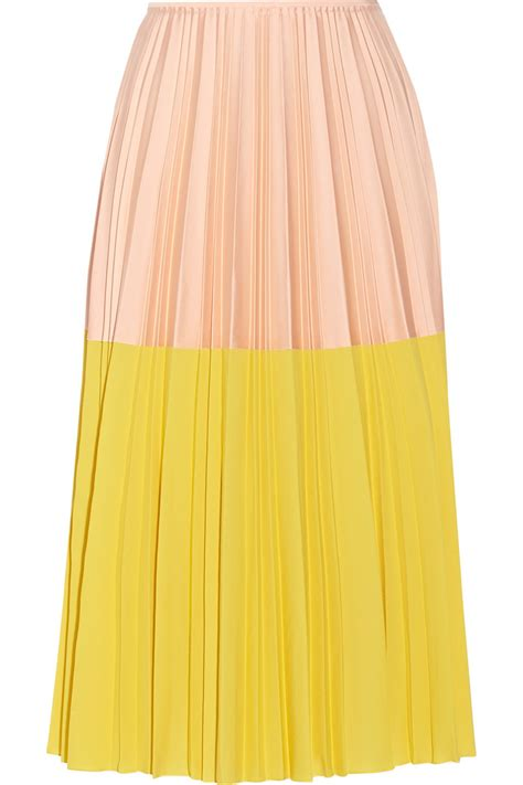 cedric charlier accordian pleat skirt yellow size 38 it in