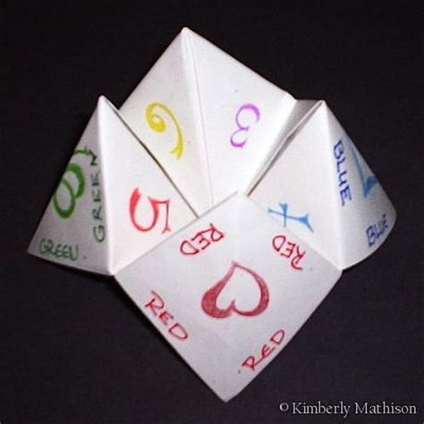 Fortune Teller Folded Paper - origami fortune teller remember when