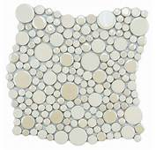 Merola Tile Cosmo Bubble Almond 11 1/4 In X 12 8 Mm