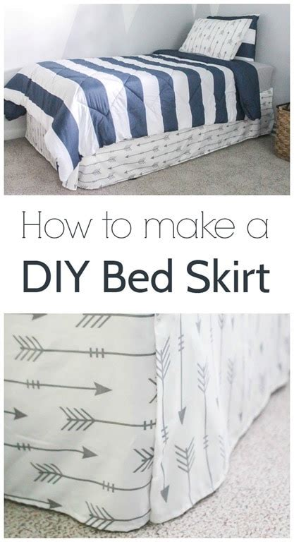 how to make the bed how to make a bed skirt from a flat sheet lovely etc