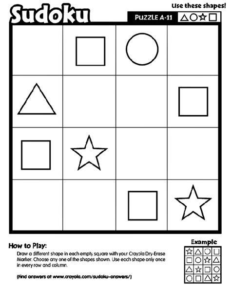 printable logic puzzles medium sudoku a 11 printable logic and reasoning skills sudoku