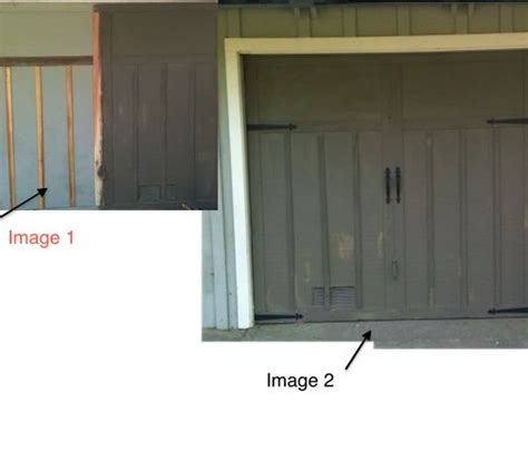 how to dress up a garage door my garage doors are plain plywood lift up type decided to